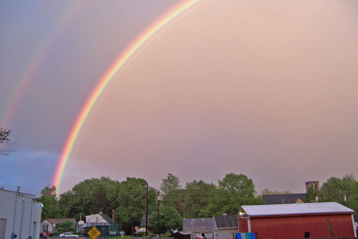 Double rainbow over North Bend, Spring '06