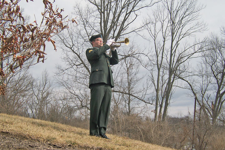 Staff Sergeant Marty Maggert, Bugler 338th U.S. Army Band
