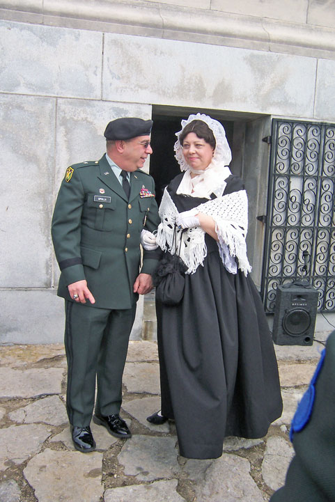 General Cipolla and Anna Symmes Harrison (Susan Bell).